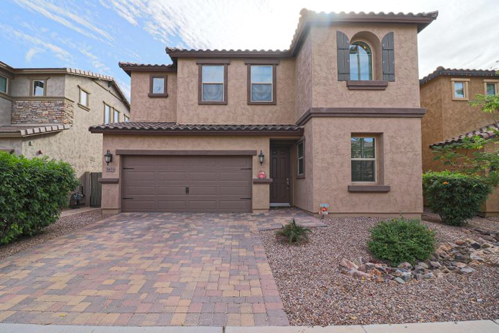 BEAUTIFUL 2-story Shea home in the highly-desirable community of the Bridges at Gilbert. This home has TONS of upgrades and is located near one of the best parks in the neighborhood with splash pad, basketball court and lake! Welcoming palette and beautiful porcelain tile floors. Stunning chef's kitchen featuring granite counters, under-mount sink, SS appliances, breakfast bar, pantry & expresso staggered cabinetry w/stylish hardware. Bedroom & full bathroom on first level. Fantastic 2-story great room. Plush carpet on 2nd level, 3 upscale baths, spacious laundry room and storage. Master retreat boasts private spa-like en suite bathroom & walk-in closet. Applicants must have min FICO score of 700 and 3 X rent for gross monthly earnings.  Rent does not include 1.5% sales tax to Gilbert.