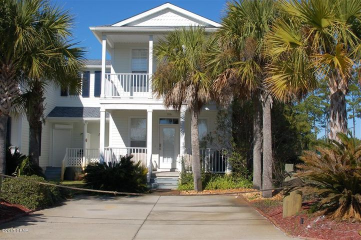 106 Canal Pkwy, Mexico Beach, FL, with Canal View and Short Walk to Beach and Canal Park