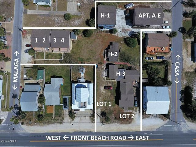 Aerial View of entire property for sale within the white lines