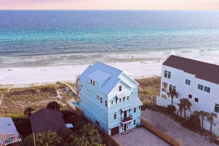 Drone view of House.
