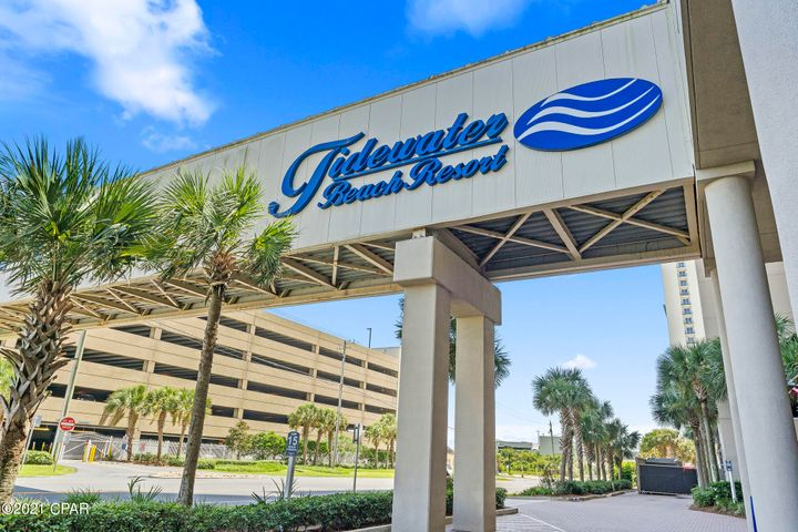 Tidewater Beach Resort with onsite Restaurant & Bar, Coffee & Beach Shop, Theater, Exercise Room, multiple Pools & much more!