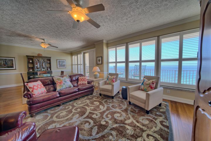 Beautifully decorated three bedroom, three-bath unit with 43 ft balcony. This is perhaps the most prestigious complex on the beach. Large living/great room, separate dinning area, upscale kitchen with a great view of the gulf. Private bath with each bedroom. Master Suite has a sitting area and is quite spacious. This complex is loaded with amenities. All information is believed to be correct but should be verified by the buyer.