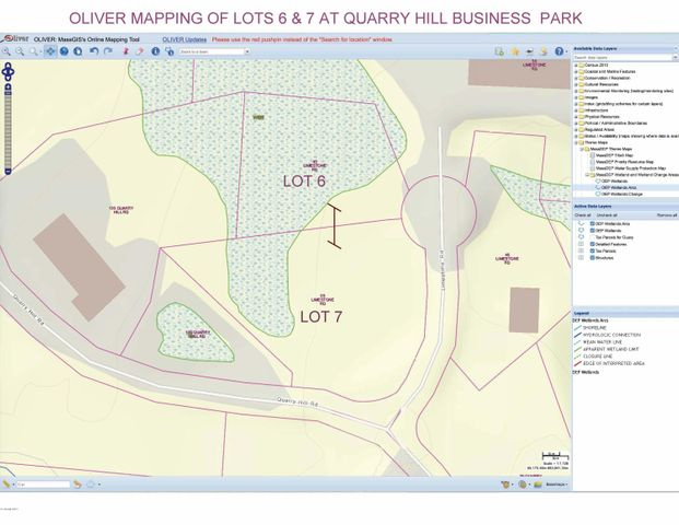 Map of lots for sale - Lots 6&7 as one lot