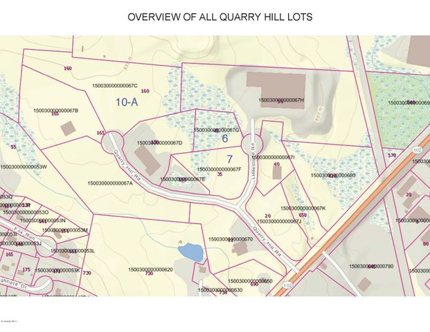 Map of lots for sale - Lots 6&7 as one lot AND LOT 10-A