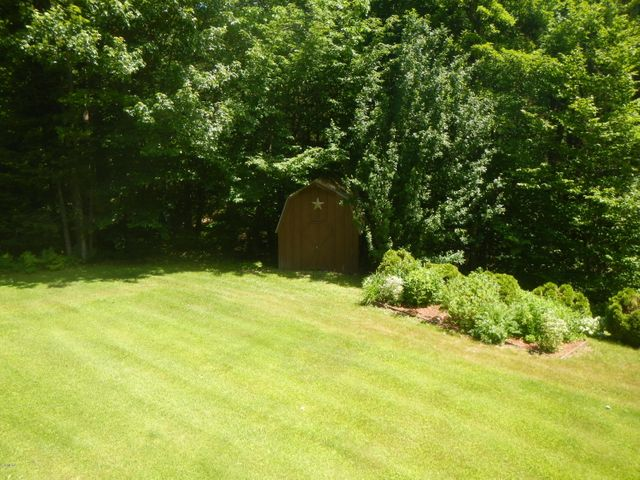 Back yard with shed