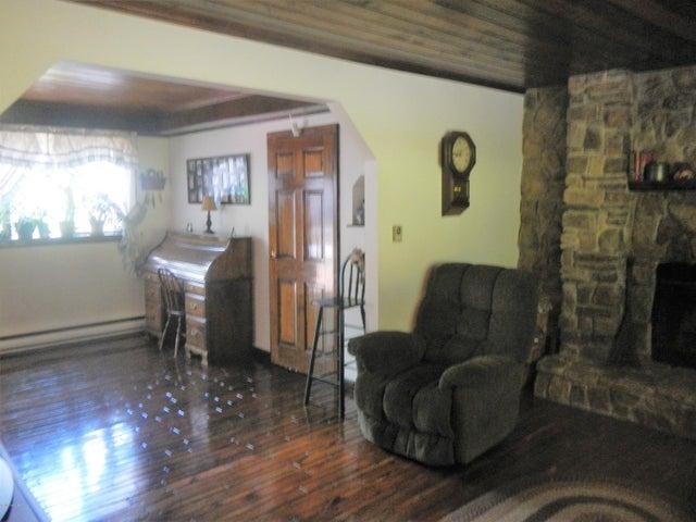 Living room into den