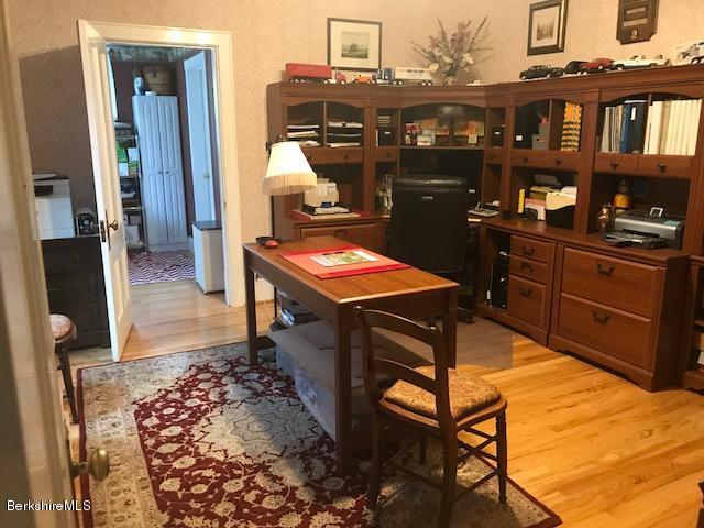 office with oak floor