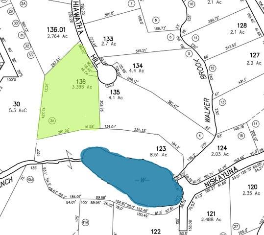 Private Indian Lake building parcel at end of cul-de-sac, backs onto community pond