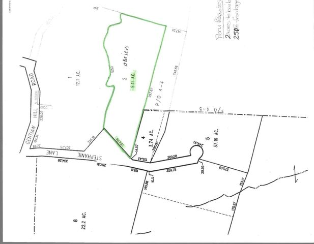 Assessors Map of Lot on Stephanie Lane in Peru