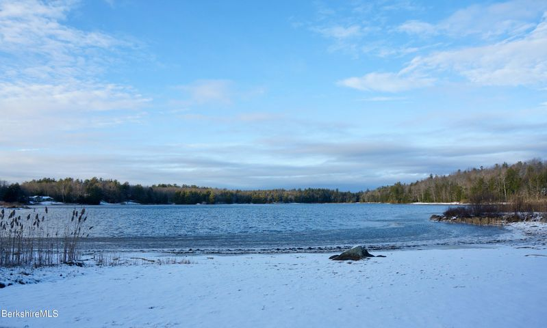 View of pond from beach