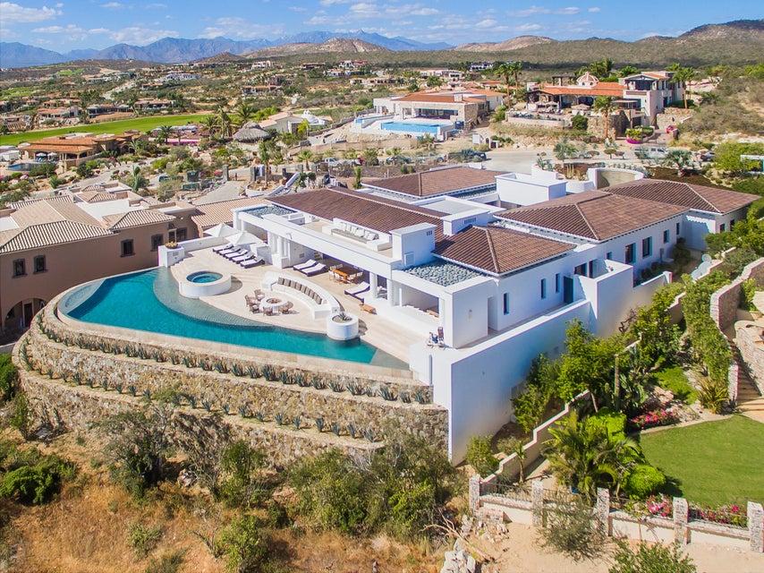 Drone image of a mansion in Puerto Los Cabos, San Jose del Cabo, Mexico