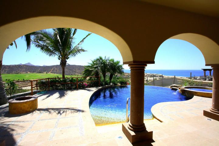 NEW PRICE!  Single level living at it's finest. This custom built 3-bed, 3-bath home is a gracious retreat located in the exclusive double gated community of La Noria, in Puerto Los Cabos. The home is nestled alongside the #1 fairway of the renowned Jack Nicklaus Front 9 and offers both spectacular links views and panoramic views of the Sea of Cortez. As you enter the home through an elegant and private courtyard a massive great room opens before you with wall to wall windows allowing stunning ocean and golf views to flood the home. Enjoy preparing meals in the spacious and well-equipped chef's kitchen while taking in epic vistas. Watch the sunrise every morning from your bed in the impressive master retreat or enjoy the sunsets while cozying up to one of the home's two fireplaces. Spoil your guests in one of the two custom designed guest suites.  This home offers the best in outdoor living, spacious patios, an ample swimming pool and numerous upgrades. Impeccably maintained, equipped with many extras, this home must be seen.