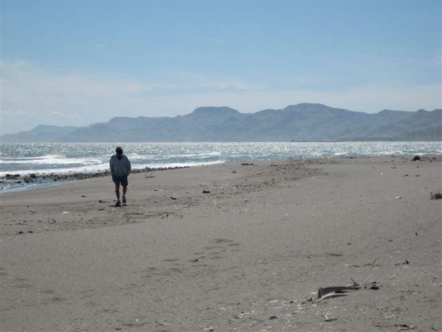 Camino a San Juan de la Costa, El Saladito, La Paz,