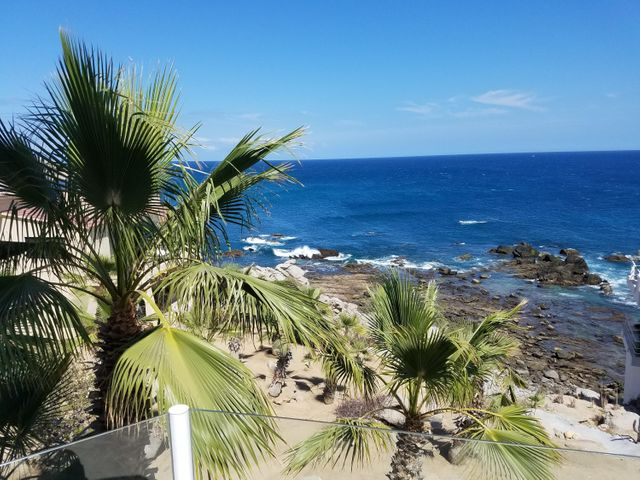 Beach front views of The Sea of Cortez from patio