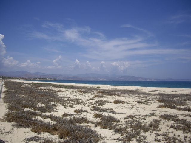 Wide and sandy beach