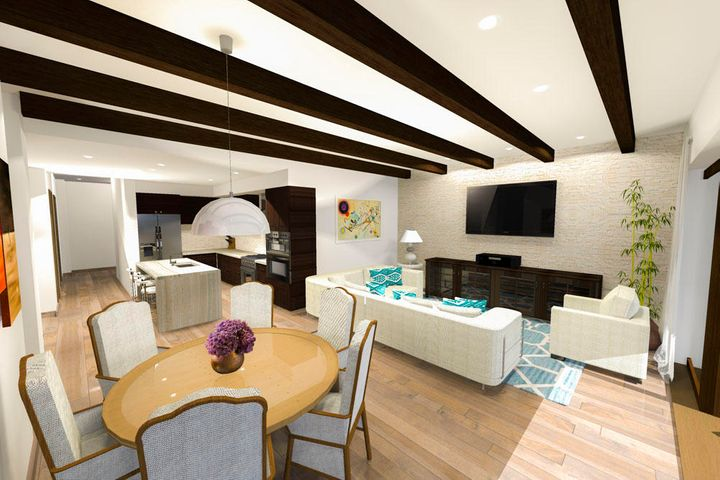 Dining and Living Fractional areas
