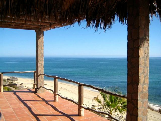 Sea of Cortez views from deck off great room main casa