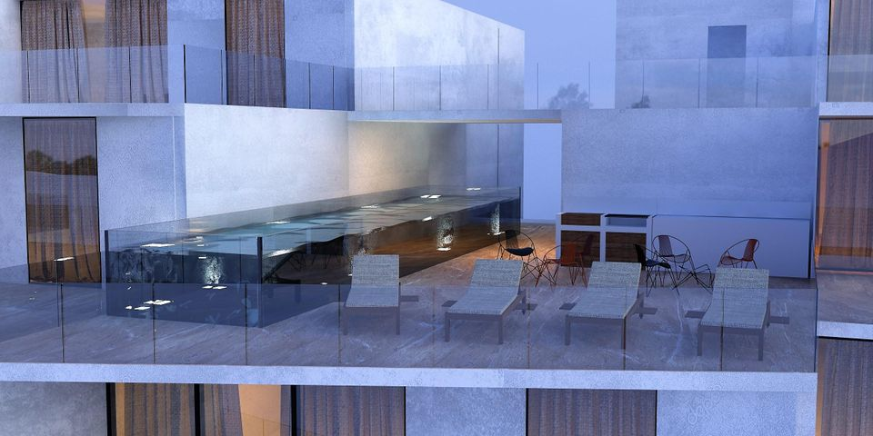 Rendition of Phase II Lap Pool and Sundeck