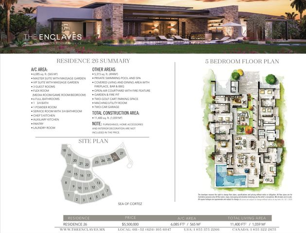 26 RItz-Carlton Reserve, West Enclave, Residence 26, San Jose del Cabo,