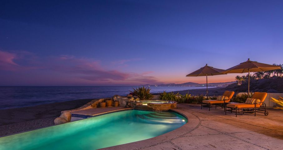 Imagine this as your backdrop - lavender seas & the sparkling lights at Palmilla Point.