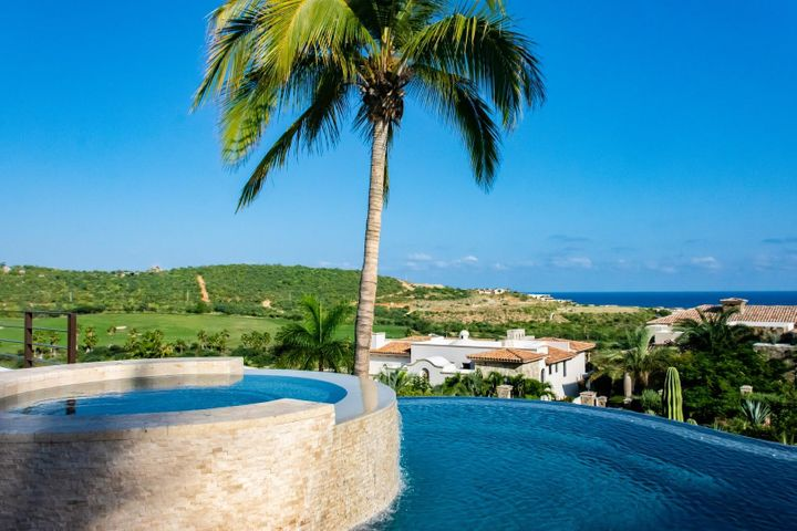 Casa Sol sea and golf views from infinity edge pool and Jacuzzi