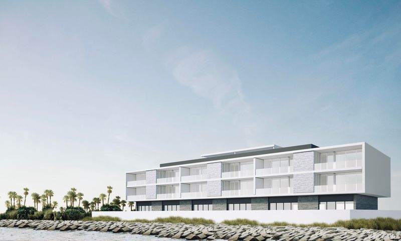 Marina facing side of ACQUA rendering