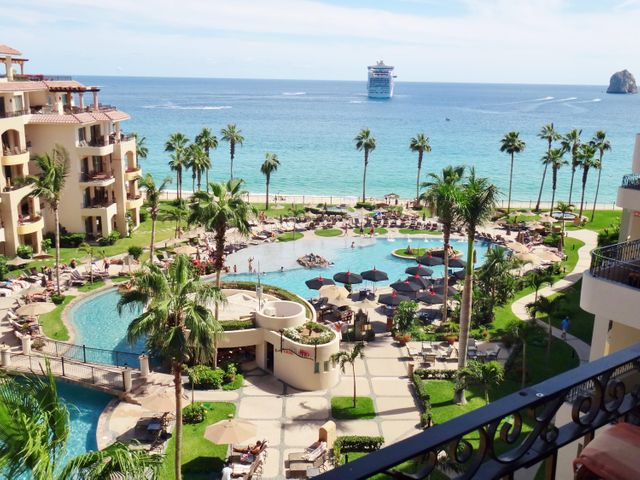 Fabulous 2BR, 3Ba, 2100 sq ft luxury condominium located in 5 Star Villa La Estancia, right on Medano Beach in Cabo. Full Ownership, Incredible ocean views, this villa is located in a premium spot in the Resort, 6th floor, above the pools, with full white water ocean views looking down to the beach.VLE is ideally located, easy walking to everything ''Cabo'', and we have 7 fabulous restaurants right on site, as well as a shopping village with mini market, ice cream shop, jewelry and souvenir shops and an arcade and a doctors office right on the grounds. Come check this villa out!! Sleeps 8, and if you are looking for rental proceeds, this is the best vacation rental resort in all of Los Cabos!!