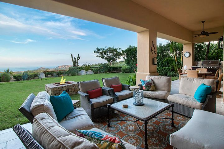 Las Cabanas number Four Lower, is located in the private resort community of Querencia Los Cabos. This one level, three-bedroom, 3,800-square-foot residence is a pleasure to view. Appreciate the scenery with the blue waters of the Sea of Cortez, the lush fairways of the Tom Fazio golf course and the cactus in the Baja Desert. The private, outdoor terrace is equipped with a custom built-in barbecue grill and garden area with a fire pit. This fully furnished, luxurious residence has been remodeled with great attention to details of furnishings, lighting and custom cabinetry. This residence is ideally situated next to the clubhouse and driving range. The small enclave of Las Cabanas offers an owner's barbecue area with pool and jetted spa for residents' enjoyment. See Supplement A golf membership may be included with the purchase of the property for an additional cost of $150,000, with transfer fee paid by the seller.   Property Features   -Q Beach Club at Acapulquito Beach surf break  -18-Hole Championship Golf Course by Tom Fazio  -Gated resort community of 1,800 acres  -Quiet location  -New Samsung 10 ton Air conditioning system -Las Cabanas owners' pool, hot tub and barbecue area  -Private garage with custom workbench, golf cart parking and storage  -Pro Shop -Coffee and snack bar  -Clubhouse with dining, sports bar and games room  -On-site property management and concierge services  -Workout facility with on-site fitness trainers  -Movement pavilion for yoga and stretching  -Lap pool  -Sports court and tennis courts  -20 minutes from Los Cabos International Airport  -Groomed mountain bike trails
