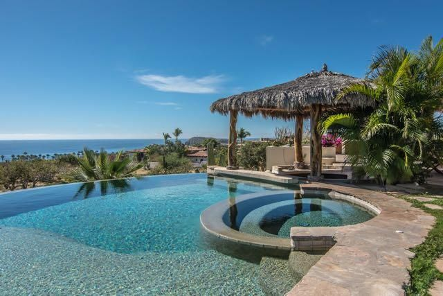 One story home sitting on a corner lot, wheelchair accessible with unparalleled Ocean Views of the Sea of Cortes. Great for entertaining