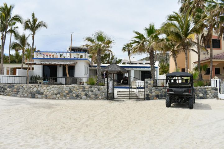 Two beachfront homes on one large lot in Spa Buena Vista offering sandy beaches, safe swimming, and pure geothermal water you can drink from the faucets. Casa 401K consists of a remodeled 3 bd/2ba main Casa, a remodeled 1 bd/1ba Casita, and a 15x35 Garage/Bodega. Corners are surveyed, marked and mapped. Title insured & title insurance is available here in Spa. Two internet systems, satellite, TV, Established VRBO rental clientele & Management team in Place.  Rent one or both and pay for your Mexico vacations! Totally turnkey; includes all furnishings, 2004 4x4Chey Tahoe, 2005 Polaris Sportsman 700 ATV 4X4, 14FT Klammoth aluminum boat with custom Baja wheels, live-well &outboard motor.