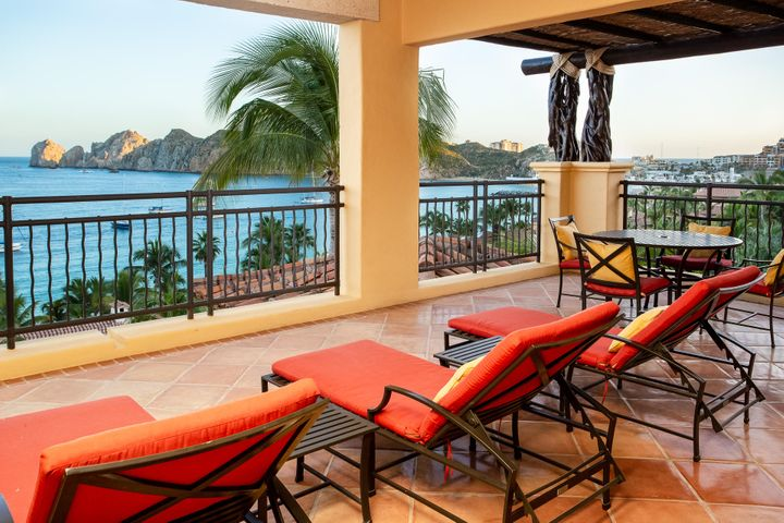 This beautiful 2-bedroom residence has impressive ocean views of the sea of Cortez and plenty of privacy. Situated on Medano Beach and walking distance to downtown, the Marina and many Restaurant's, Hacienda Beach Club has it all. This residence comes fully furnished with a well-designed kitchen, large covered terrace and ample living space that is great for entertaining. The common area amenities include pools, Spa, fitness center, kids club, activity center, restaurant, owners lounge, pool bar, swimmable beach and more. Hacienda has an excellent on-site staff which provides a lifestyle element that is perfect for the entire family.