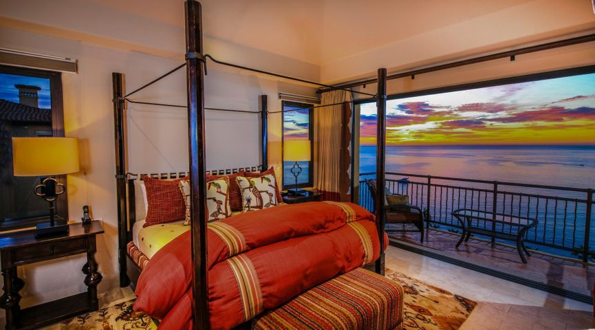 Exemplary views and luxury penthouse living best describe this sixth floor, single level residence located in Hacienda Beach Club & Residences.  The expansive open floor plan includes two master suites and two guest suites all tastefully appointed to reflect the finer things in life. The seamless indoor-outdoor flow allows for extreme comfort and beauty while entertaining outside at the built in grill area or indoors in the large living/dining/kitchen area.  Oceanfront living is redefined here with direct access to the beach and just moments away from fine dining, shopping and nightlife.  Unwind on Haciendas own stretch of white sand beach offering one of the few swimmable beaches in Los Cabos.  The view of Lands End encapsulates the beauty that is the life and lifestyle of Los Cabos.