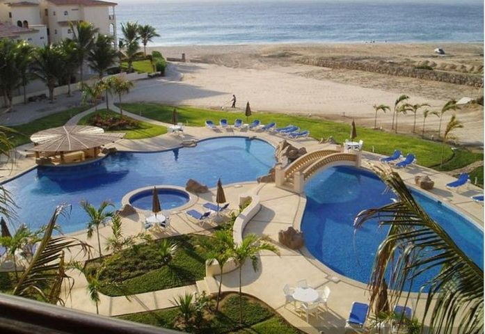 Beautiful 3 bed/3 bath condo on the sand in popular Las Mananitas.  Has not been used as a rental unit; however would be a great rental unit, with a 1 bedroom lockoff. Fully furnished, with garage.  Walking distance to restaurants, park, and grocery shopping, as well as the charming colonial area of San Jose del Cabo.  This well priced unit will sell quickly.