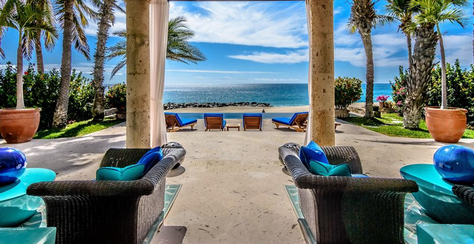 Located in one of Palmilla's most sought after neighborhoods, this rare home lends itself perfectly to the imagination of the most discerning architect, designer or artist. Upon entering, you are greeted with open views of the Sea of Cortez and a bright, colorful interior. In this two-story , 4 bed/4 bath beachfront traditional Mexican masterpiece, you will find a true indoor/outdoor feel as soon as you walk in. The property also features a separate apt and room located next to the garage that can be used as an artist studio, movie theater or maids quarters. The VDM gym is across the road from this home with hills behind it that offer beautiful hikes. Be a spectator from the patio as mother whales teach breeching techniques to their newborns and watch sea turtles nest/hatch every season.