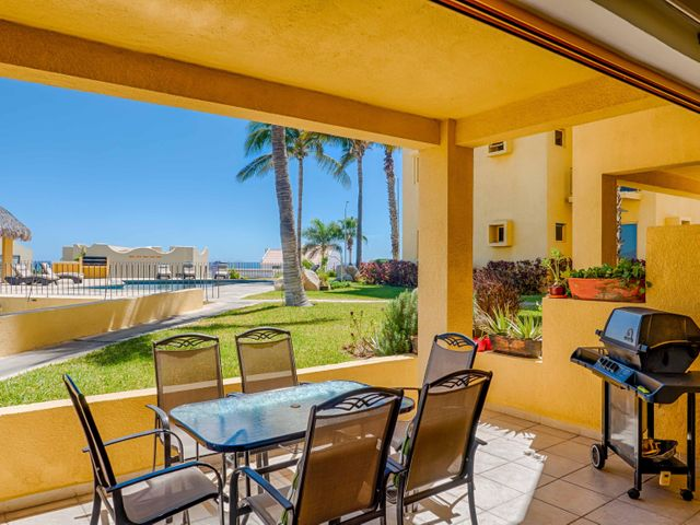 Very nice 2 bedroom 2 bath ground floor unit in the much sought after  subdivision of Cabo Del Mar. Spacious outdoor living and just steps to the pool. Hurry!