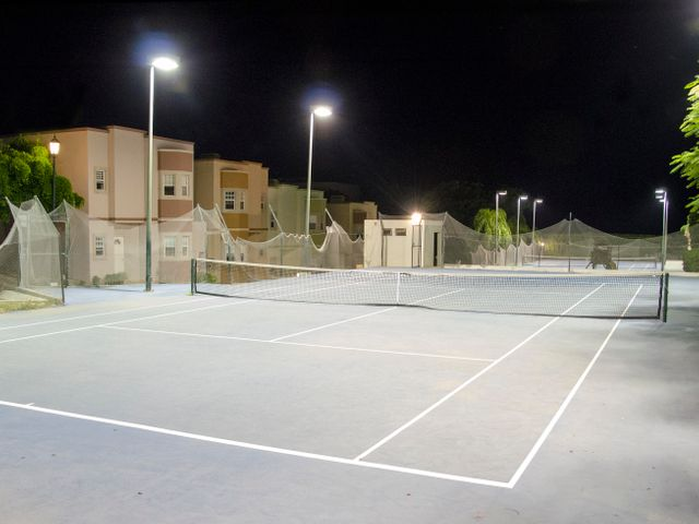 Tennis Courts with Nigh Lights