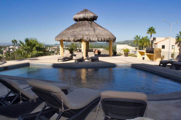 Swimming pool and palapa area