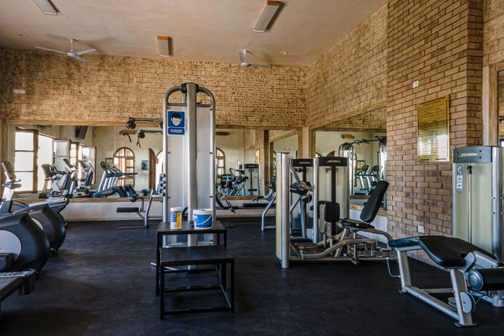 Gym cardio area