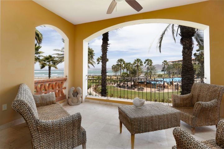 Enjoy this wonderful 2bed/3bath furnished condo, with central A/C and the best view of La Paz and the Sea of Cortez. You will feel deeply connected to the Baja. Condo D203 is part of Paraiso del Mar, a luxury, private development located at El Mogote in La Paz. Amenities include 2 community swimming pools, jacuzzis, 2 restaurants, golf course, tennis courts, pickleball, volleyball, and a dog park. There are also 3 different bike stations for the use of owners. You will find endless family activities like kayaking, paddle board, playing on the swimmable beach just steps from your door.