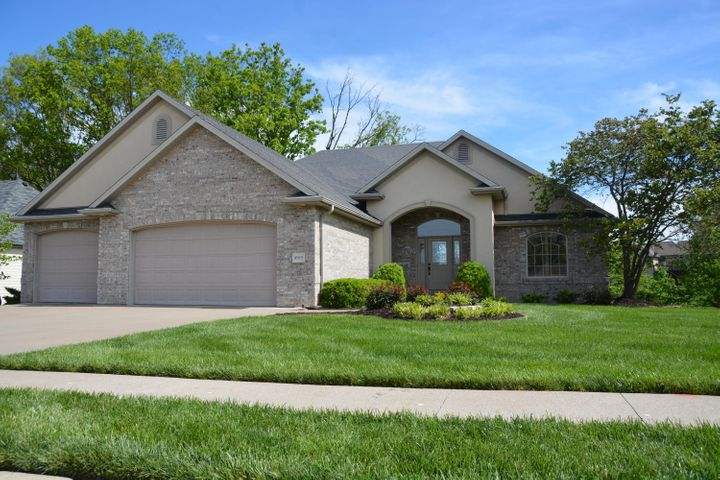 "Very special, one-of-a-kind ranch style home for those that love LARGE, open spaces! Perfectly positioned on a DEEP NE facing, level lot. You'll be able to enjoy large deck & trellised patio at any time of the day! The custom and detailed features begin at the beautiful front door! Don't miss the trim details… wainscot in great room, board & batten in front bedroom, walk-in pantry, built-in cabinets, spacious master closet with built-ins and natural lighting. We fell in love with the size of the MB and the wall of built-ins! All of the lighting and plumbing fixtures are high end. Lower level has great space for entertaining with 2 additional bedrooms, a home gym and tons of storage (includes easy access ""John Deere doors!)"