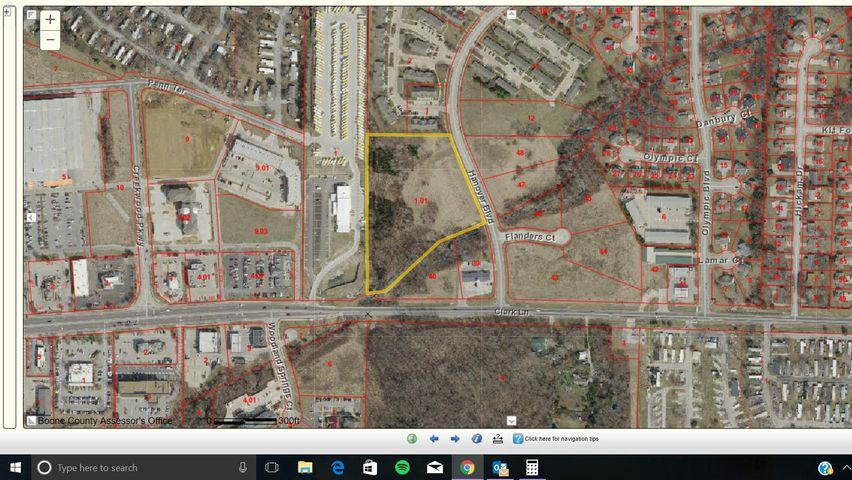 6.40 +/- acres partially wooded