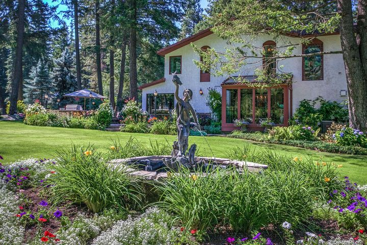 Beauty abounds everywhere you look with water features, fountains, special gardens and well designed layout on 6.8 acres. Who knew behind the gates so much beauty exists?