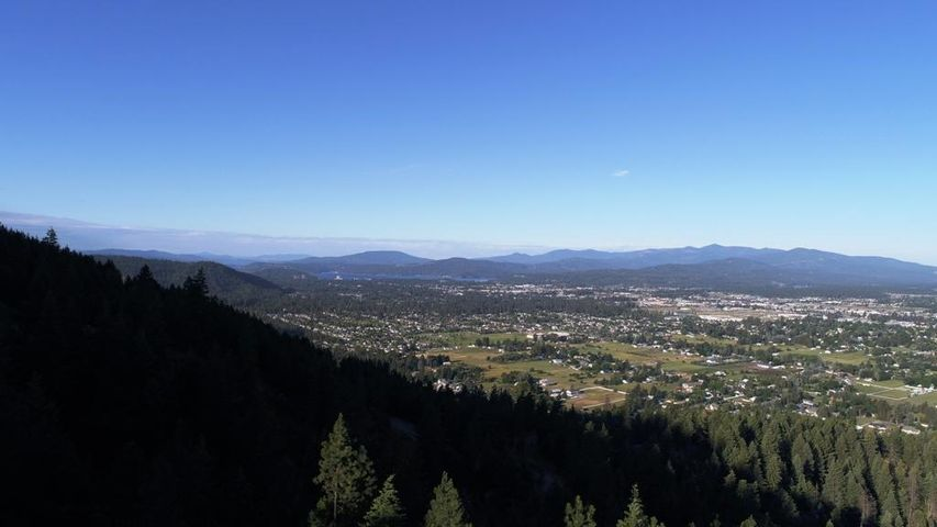Picture just above tree line toward Coeur d'Alene Lake