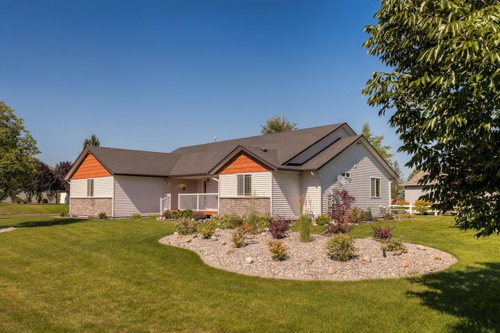 The home is professionally landscaped and easy to maintain.