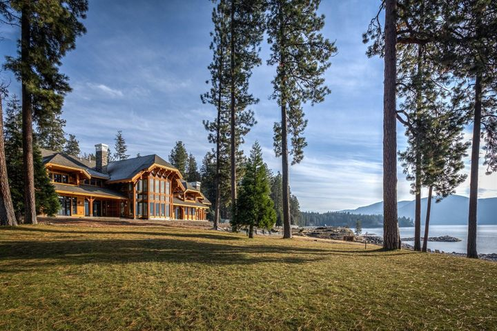 Luxury in every detail of this one of a kind 13,036 SF home on Lake Pend Oreille