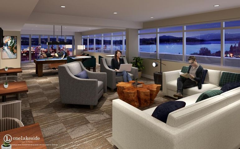 Artist rendering of rooftop club level in terior, subject to variation