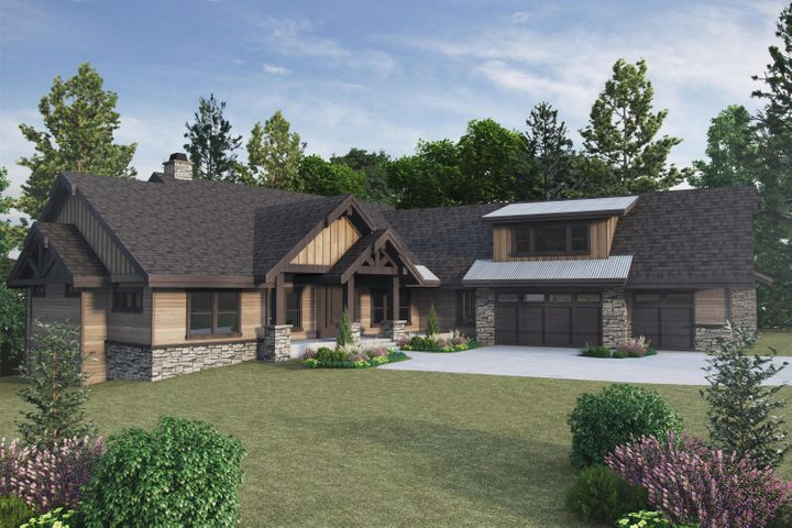 """A to-be-built 3,406 sq ft """"Modern Cabin"""""""