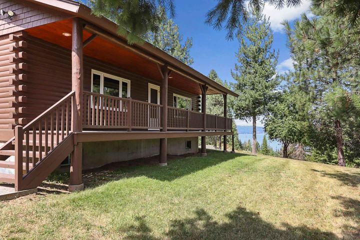 Inviting deck for enjoying the beautiful lake views.