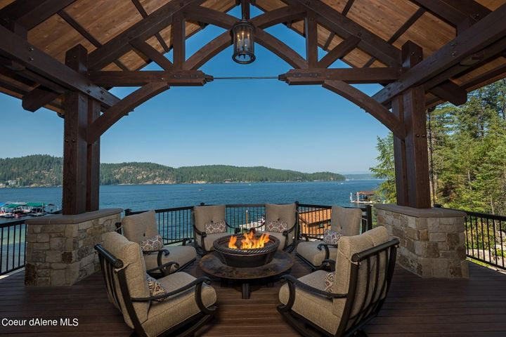 Best View in the house! Sit around the firepit for hours and relive the tales of the day.