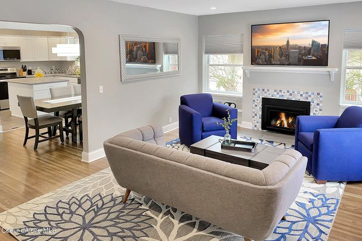 The recent remodel opened up the house layout for a modern open feel